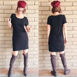 Black Knit Shift Dress